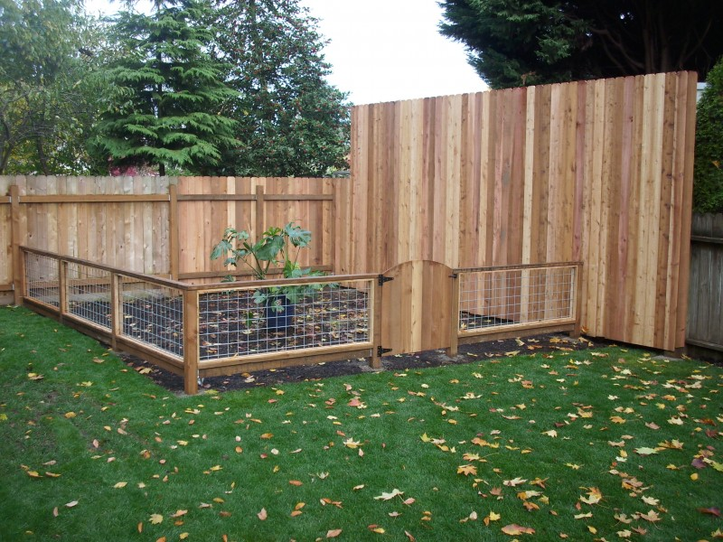 Hog panel and cedar fences