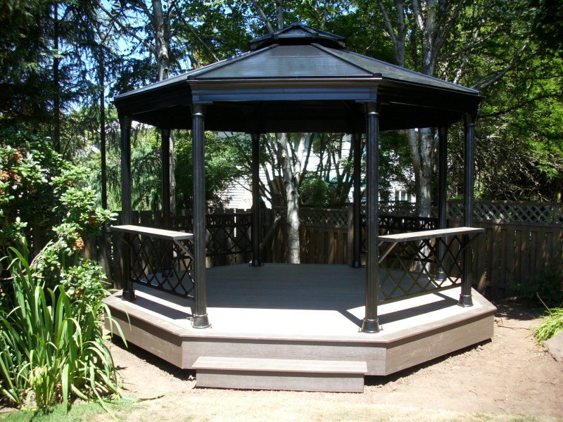 Metal Gazebo with Composite deck