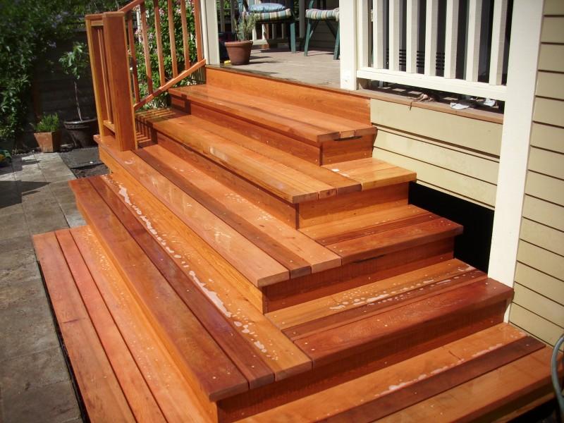 Custom clear cedar stairs