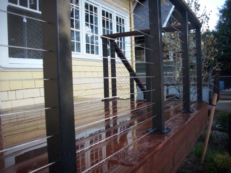 Ipe deck with Stainless steel cable rail