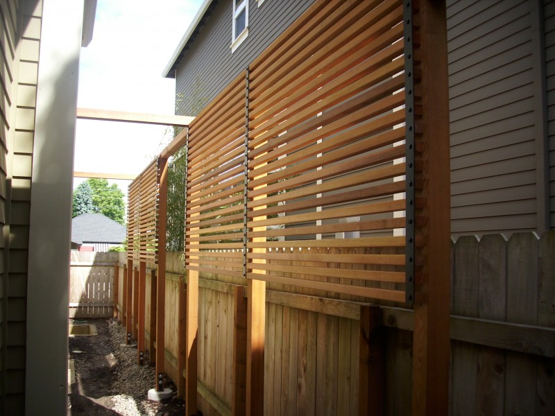 Custom clear cedar screen and fence