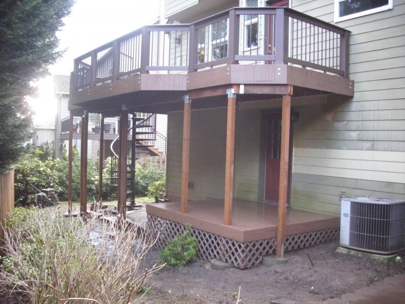 Composite second story deck
