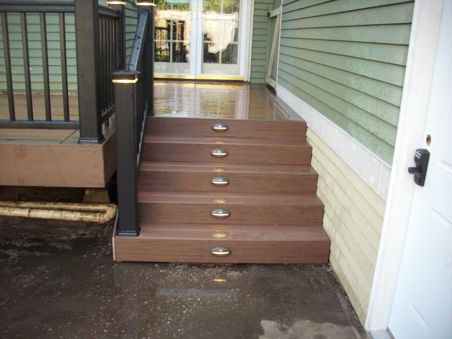Lighted stair risers
