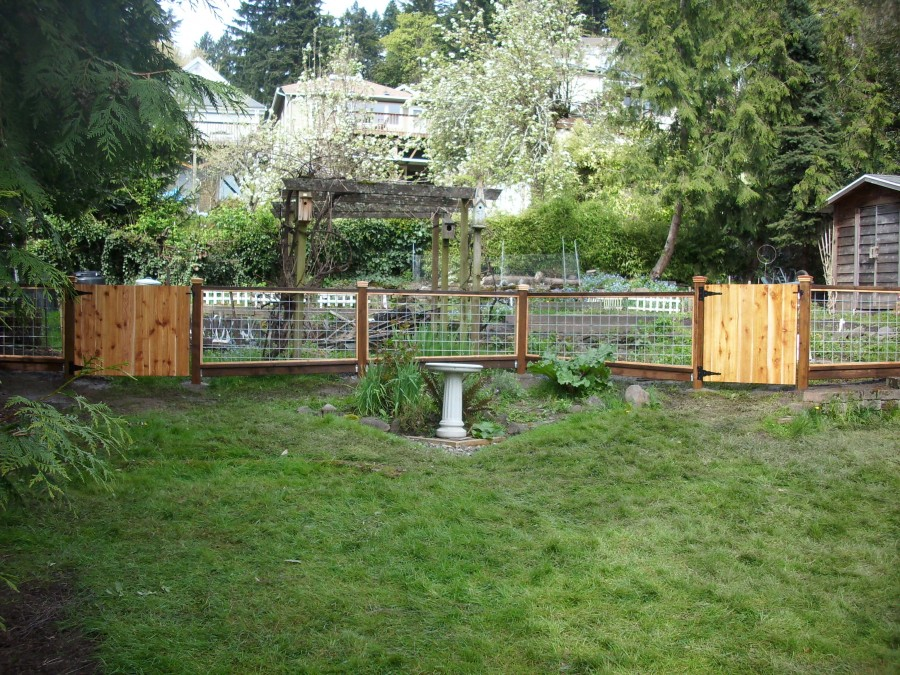Hog Panel garden fence