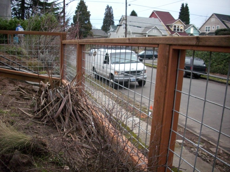 Galvanized Wire Fence With Pressure Treated Frame Deck
