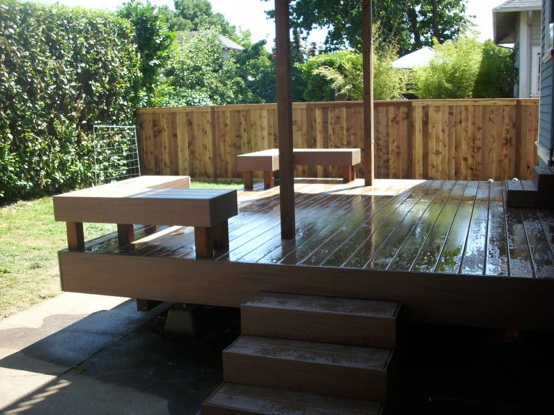 Built in composite benches