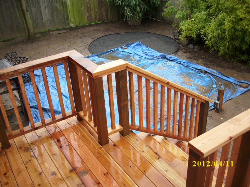 Cedar Deck With Built In Bench Deck Masters Llc