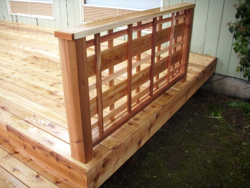 Cedar deck with custom lattice