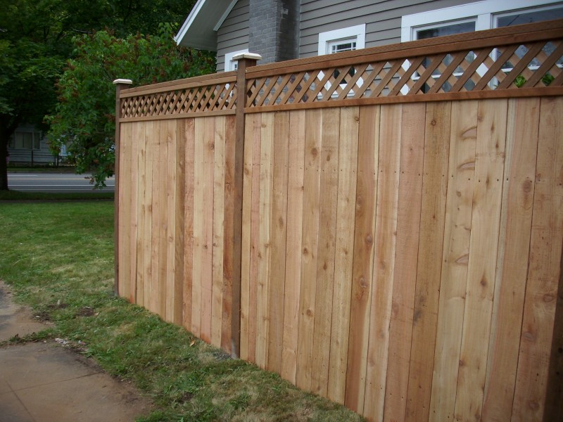 Lattice Top Cedar Fence Deck Masters Llc
