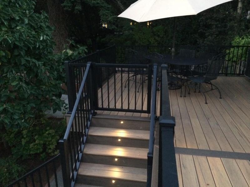 Composite Deck With Aluminum Railing Deck Masters Llc