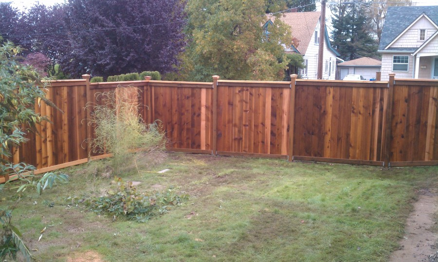 Picture Frame Fence In North Portland Deck Masters Llc