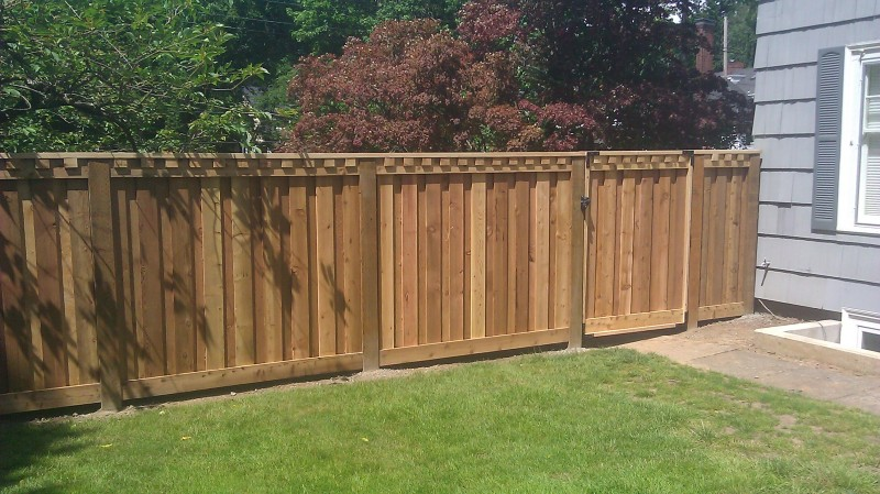 "Custom ""dental"" cedar fence"