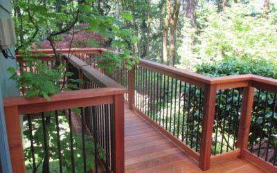 Clear cedar deck