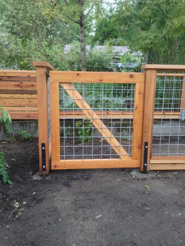 Hog panel cedar gate