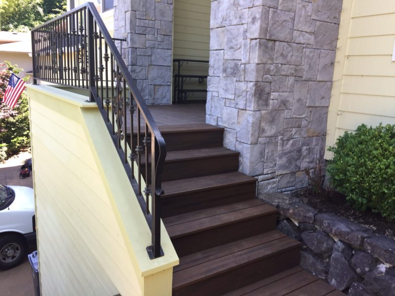 Tall entry stairs