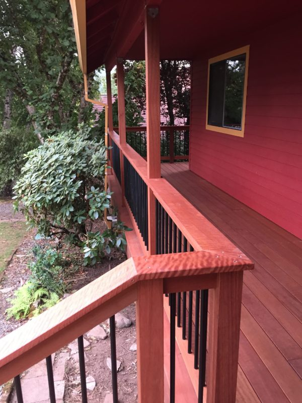 Dark Red Meranti Deck Railing