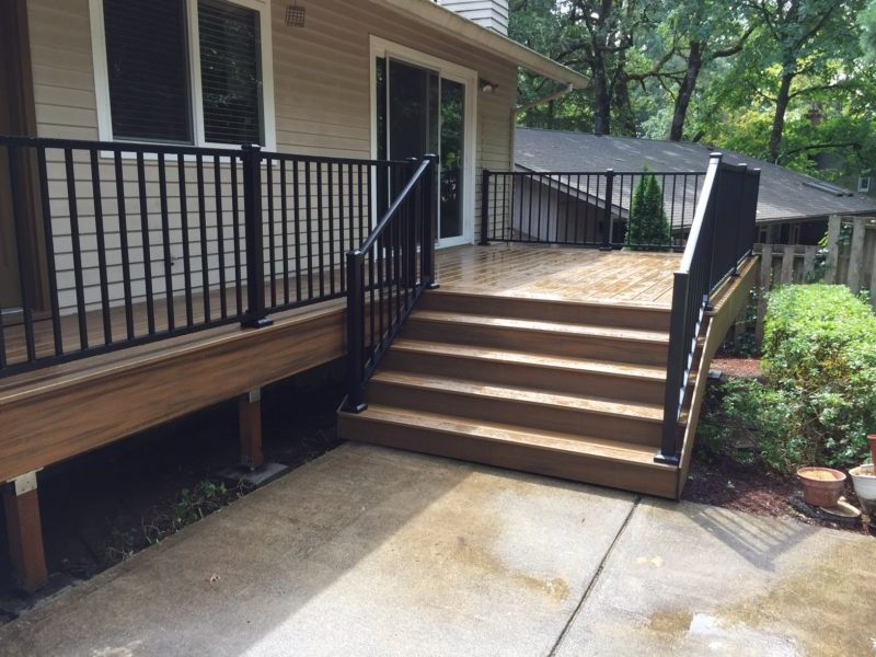 Trex Havana Gold Deck With Aluminum Railing Deck Masters