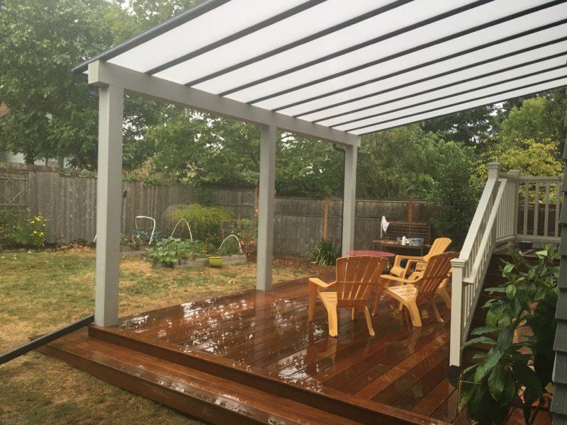 Ipe deck with Acrylite patio cover