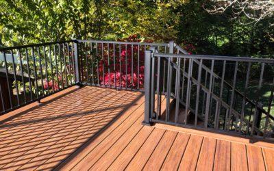 Havana gold Trex deck with aluminum railing