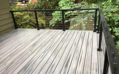 Trex island mist deck with cable rail