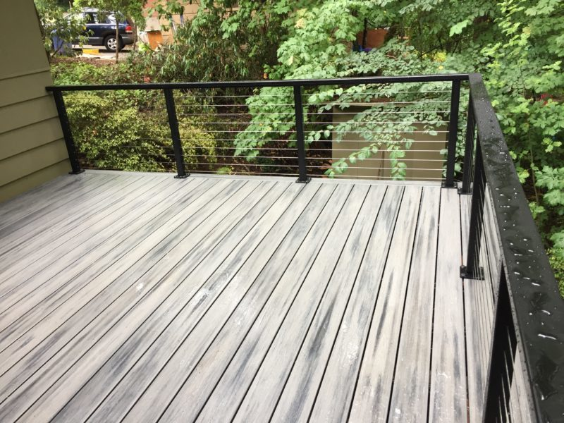 Trex Island Mist Deck With Cable Rail Deck Masters Llc