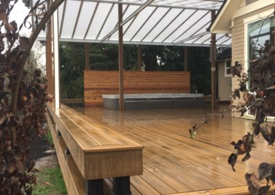 Trex Havana Gold deck and Acrylite cover