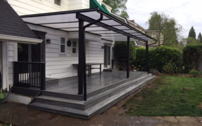 Acrylite patio cover and Trex deck