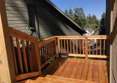 Tight knot cedar deck