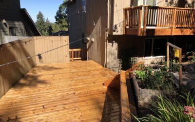Old fashioned cedar deck