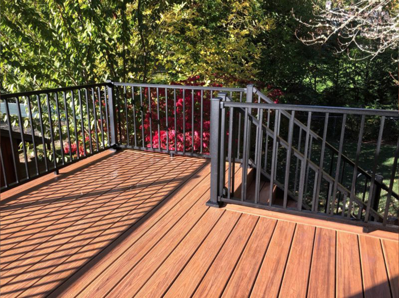 Havana Gold Trex Deck With Aluminum Railing Deck Masters