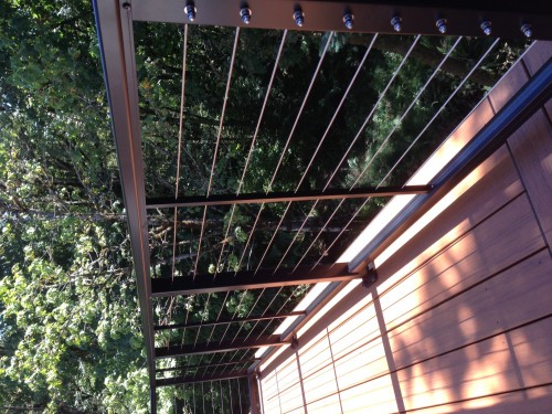 Stainless steel cable railing | Deck Masters, llc