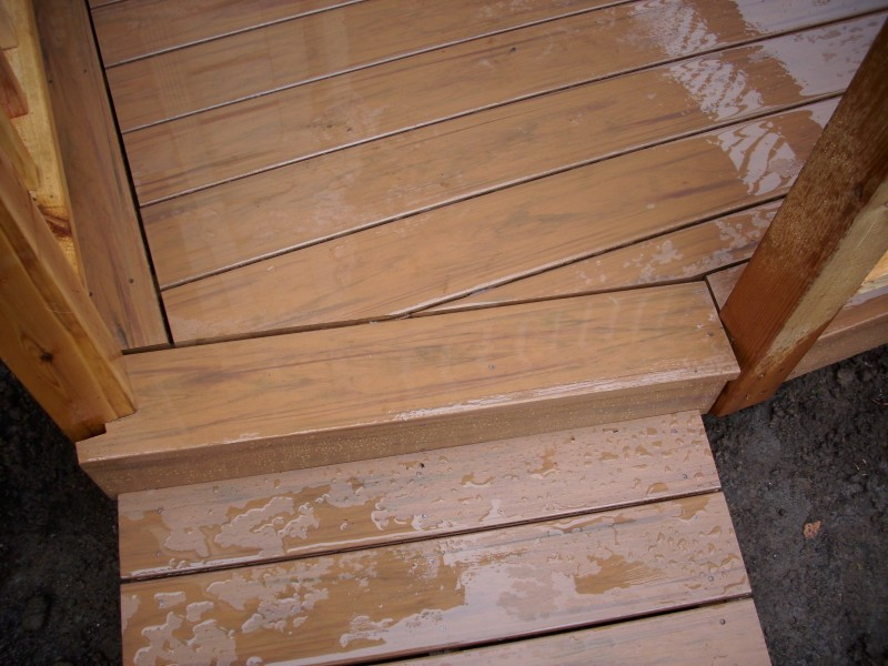Desert Bronze Timbertech Pvc Deck And Stone Pavers Deck